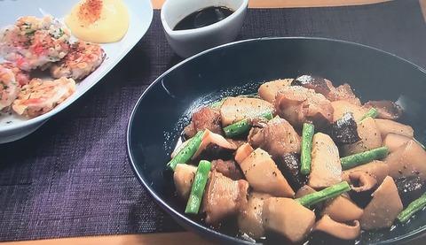 【里芋と豚肉の黒こしょう煮】【里芋のネバカリ焼き】レシピ