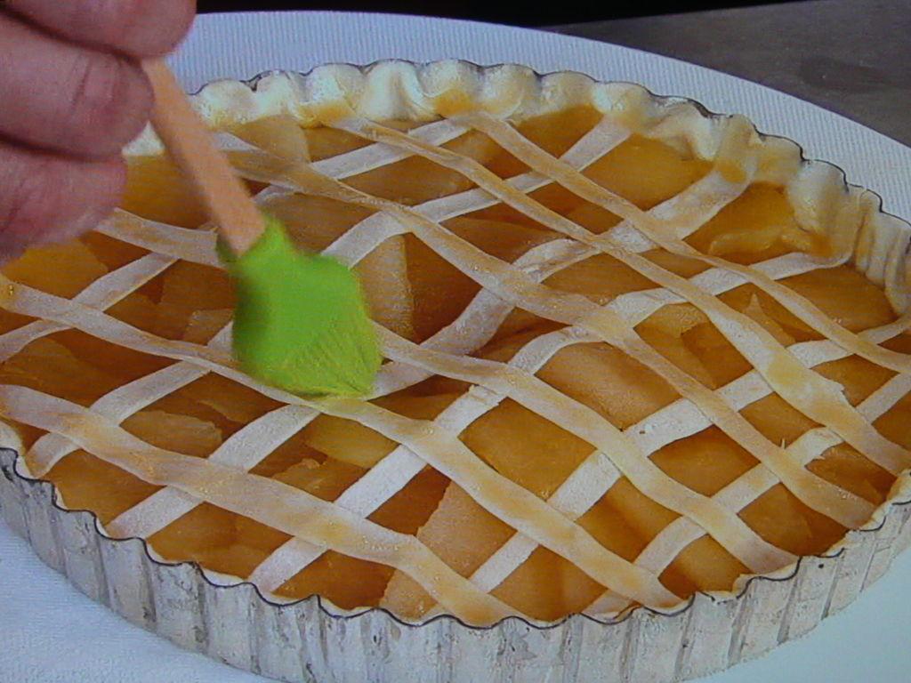 リンゴを盛る