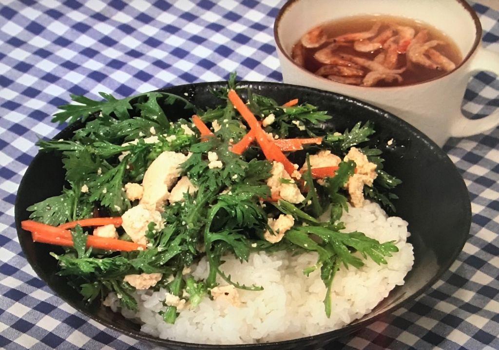 豆腐と野菜のナムルごはん