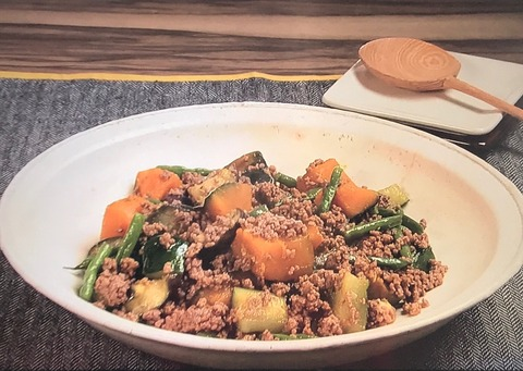 3分クッキング レシピ 夏野菜たっぷり!【野菜の蒸し煮 そぼろあえ】