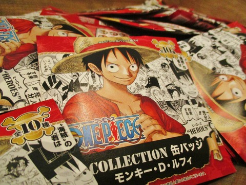 COLLECTION缶バッジルフィ