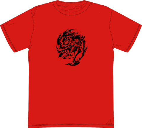 s墨絵_TシャツRED