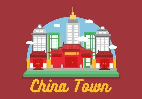 China-Town-Vector