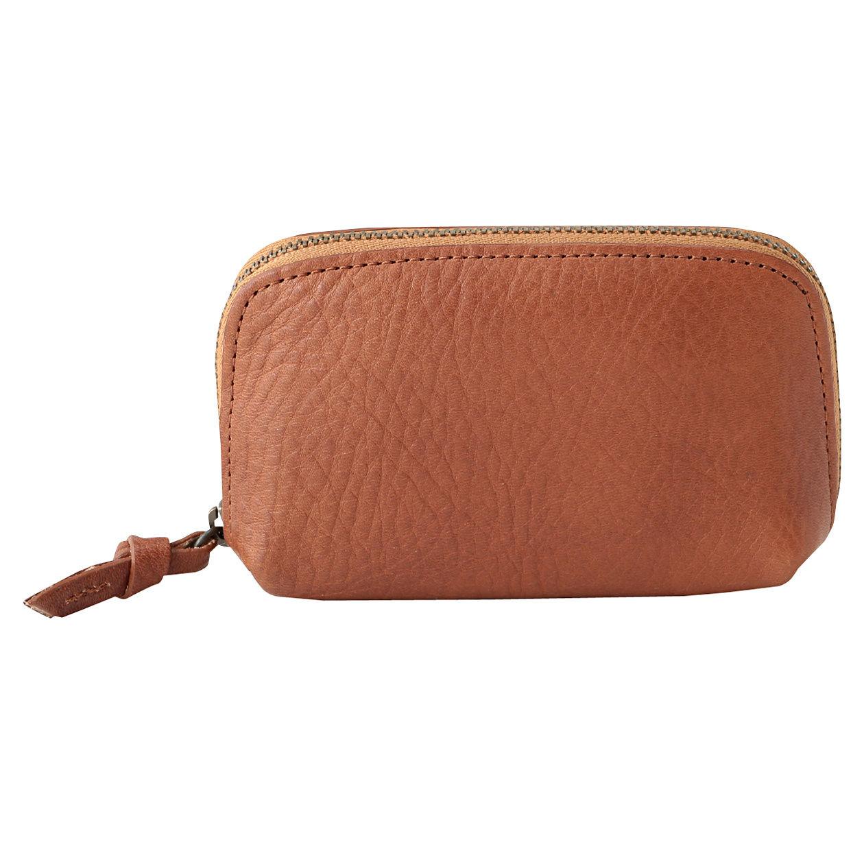 新品未使用 無印良品 イタリア産ヌメ革コインポケット付二つ折り財布 生成