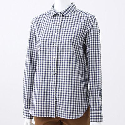 無印良品 むじるしりょうひん オーガニックコットンブロードギンガムボタンダウンシャツ