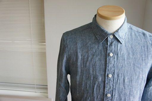 無印良品「オーガニックコットン洗いざらしブロードシャツ」