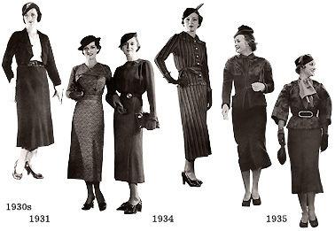 むかしの装い : 1940年代の装い...