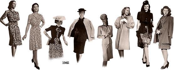 1940年代の装い・海外03 : むかしの装い