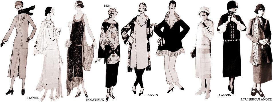1924-1926年の海外ファッション : むかしの装い
