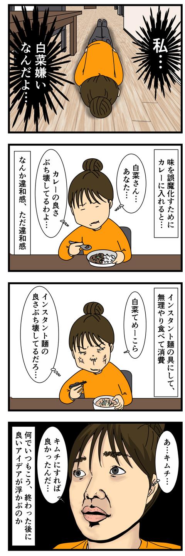 冷蔵庫の野菜の消費が大変だった (3)