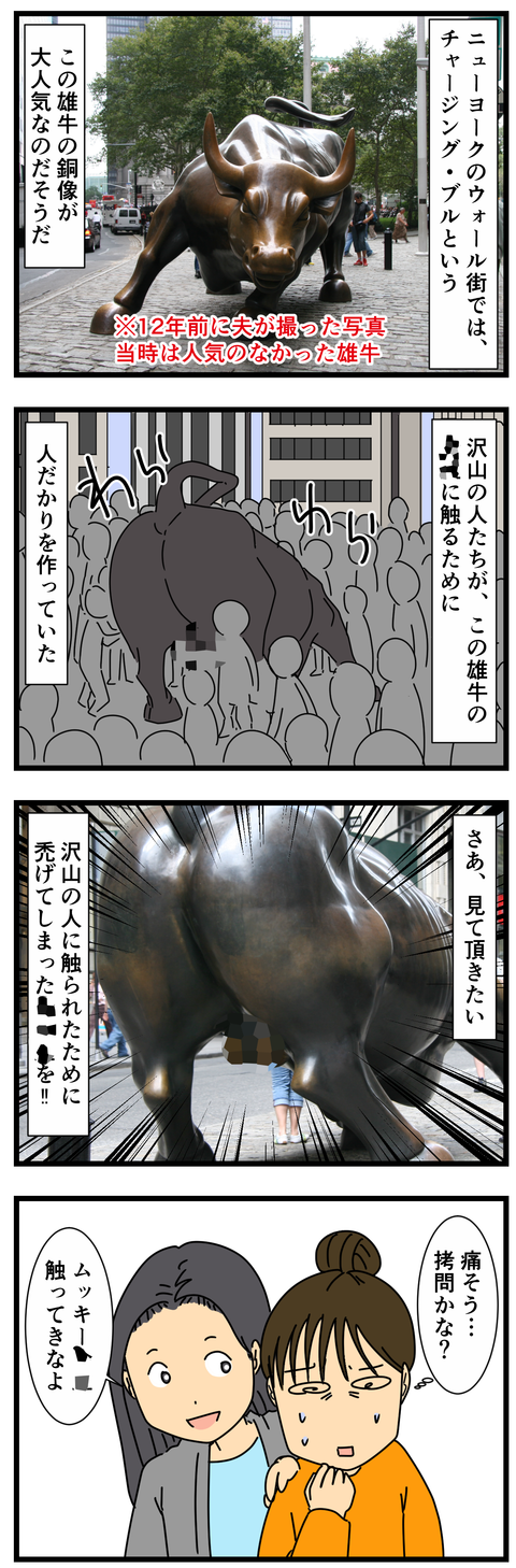 NYの雄牛 mozaku(2)