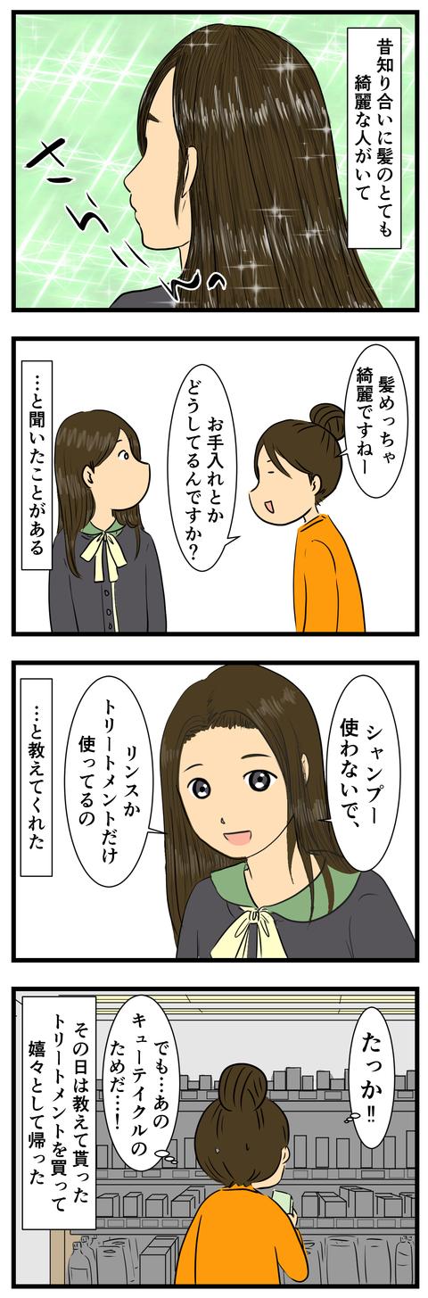 髪のお手入れ (2)