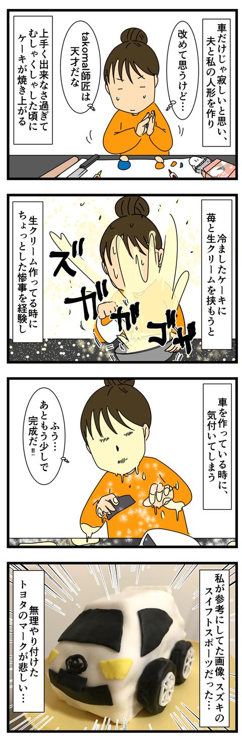 夫の誕生日ケーキを作ろう! (3)
