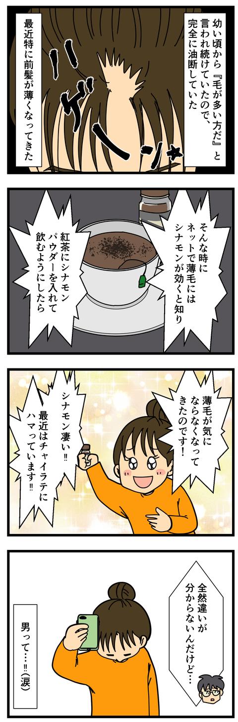薄毛にはシナモンが効く! (3)
