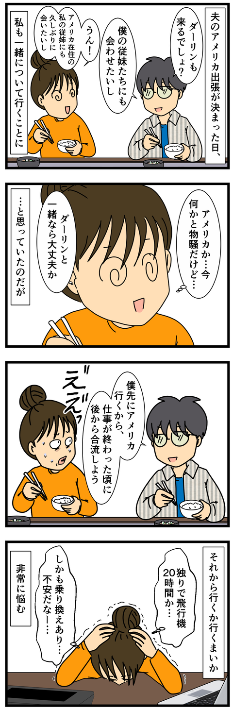 アメリカ出張、ついていくか行かないか (2)