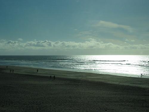 午後の日差しに輝く太平洋
