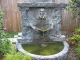 裏庭の水盤