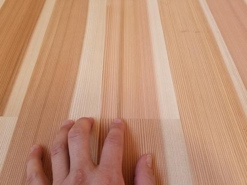 高樹齢! 百年杉柾浮造り(うづくり)無垢フローリング 個室施工 6