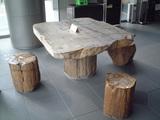 珪化木テーブル