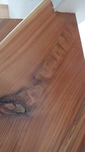 杉無垢一枚物ストリップ階段 7
