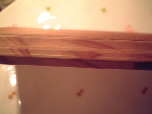 杉柾浮造りフローリング木口