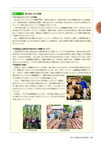 平成30年度森林・林業白書 戸田掲載ページ