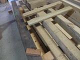 神代欅(ボグケヤキ)加工中 縞黒檀とカリン材と共に