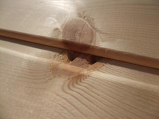 北洋赤松(レッドパイン)無垢一枚物羽目板 7