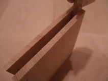 木曽桧木製名刺ケース 木口