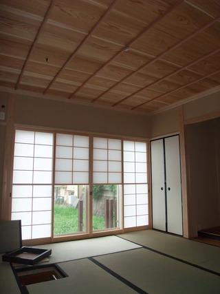 杉無垢竿縁天井板2