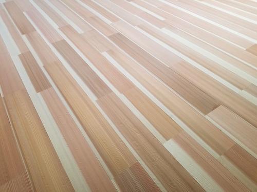 高樹齢! 百年杉柾浮造り(うづくり)無垢フローリング 個室施工 9