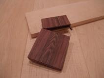 ムラサキタガヤ木製名刺ケース 1