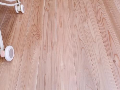高樹齢杉 埋め節フローリング施工 K邸 5