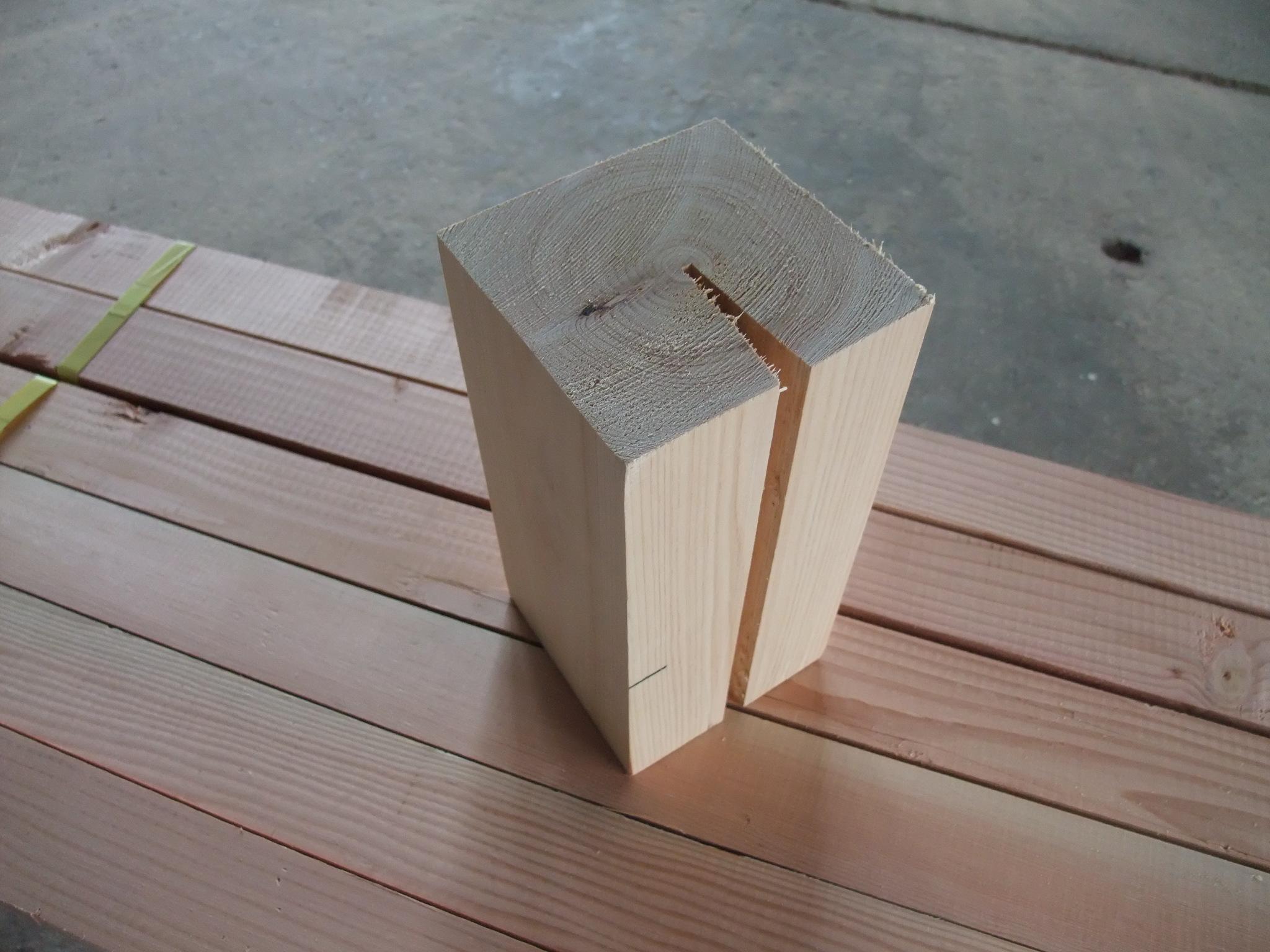 背割り柱 切れ端 まず、注釈をした「柱として使用することについては・・」ということですが、これは
