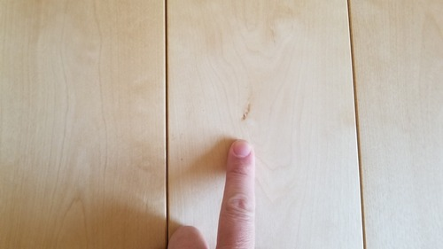 ロシアンバーチ幅広無垢つなぎ目V溝フローリング プルミエ 9