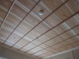 杉無垢竿縁天井板1