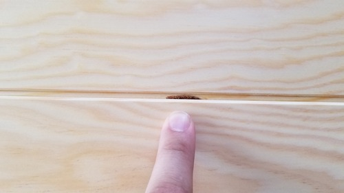 石山赤松無垢一枚物羽目板 10