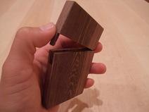 ムラサキタガヤ木製名刺ケース 2