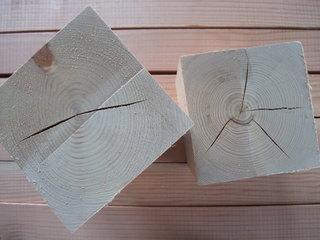 人工乾燥材の内部割れ