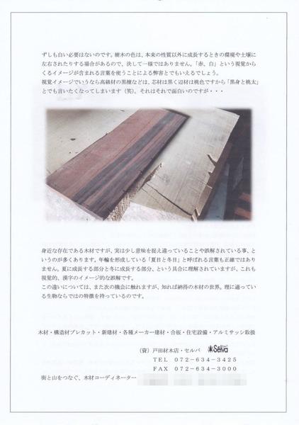 木のビブリオ通信 No,10 裏