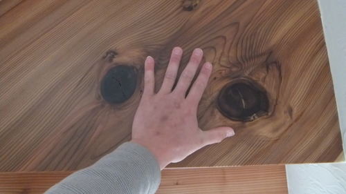 杉無垢一枚物ストリップ階段 10
