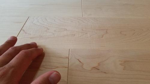 ロックメープル幅広無垢つなぎ目V溝フローリング 7