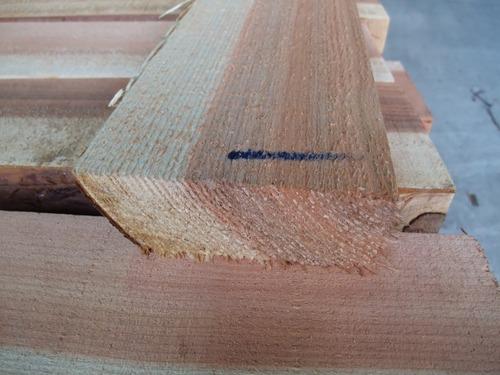 杉柾無節浮造りフローリング原板拡大