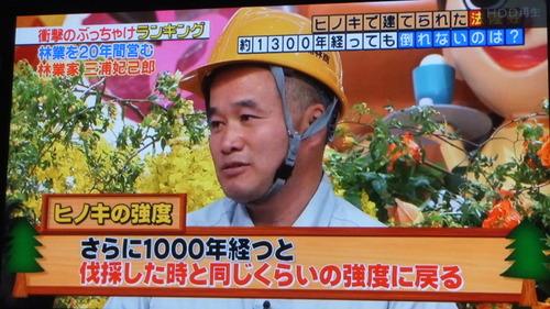 林業についてのテレビ放送 2
