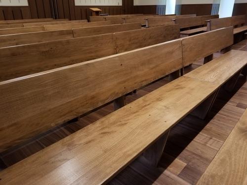 日本の広葉樹家具 ぶな材長椅子 2