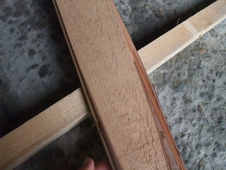 木裏加工の裏側(木表)
