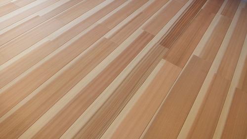 高樹齢百年杉柾浮造りフローリング 6