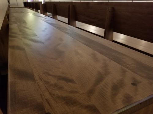日本の広葉樹家具 ぶな材長椅子 5