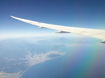 複合材の羽と富士山
