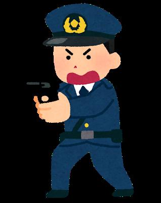 銃を構える警察官